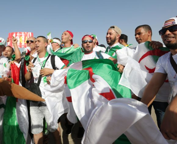 Algeria fans during the 2019 Africa Cup of Nations Finals match between Senegal and Algeria at 30 June Stadium, Cairo, Egypt on 27 June 2019 ©Samuel Shivambu/BackpagePix