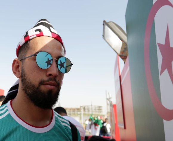 Algeria fan shows his country reflection through his sunglass during the 2019 Africa Cup of Nations Finals match between Senegal and Algeria at 30 June Stadium, Cairo, Egypt on 27 June 2019 ©Samuel Shivambu/BackpagePix