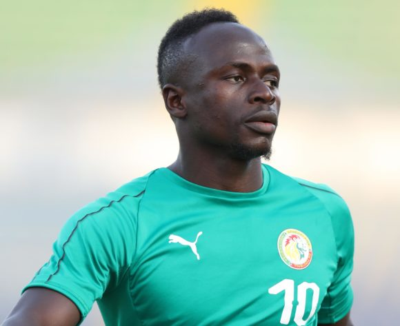Sadio Mane of Senegal warm up during the 2019 Africa Cup of Nations Finals match between Senegal and Algeria at 30 June Stadium, Cairo, Egypt on 27 June 2019 ©Samuel Shivambu/BackpagePix