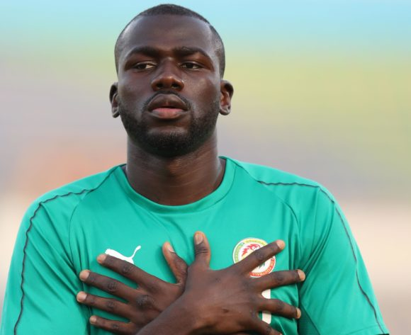Kalidou Koulibaly of Senegal warm up during the 2019 Africa Cup of Nations Finals match between Senegal and Algeria at 30 June Stadium, Cairo, Egypt on 27 June 2019 ©Samuel Shivambu/BackpagePix