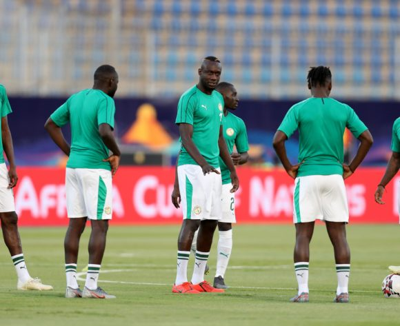 Senegal players warm up during the 2019 Africa Cup of Nations Finals match between Senegal and Algeria at 30 June Stadium, Cairo, Egypt on 27 June 2019 ©Samuel Shivambu/BackpagePix