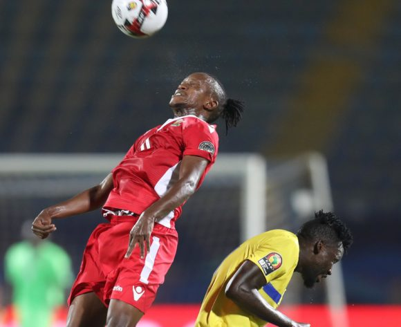 Francis Kahata of Kenya challenged by Erasto Nyoni of Tanzania during the 2019 Africa Cup of Nations Finals match between Kenya and Tanzania at 30 June Stadium, Cairo, Egypt on 27 June 2019 ©Samuel Shivambu/BackpagePix