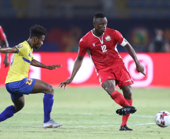 Victor Wanyama of Kenya challenged by Mudathir Yahya of Tanzania during the 2019 Africa Cup of Nations Finals match between Kenya and Tanzania at 30 June Stadium, Cairo, Egypt on 27 June 2019 ©Samuel Shivambu/BackpagePix