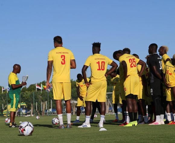 GV of Guinea-Bissau team training during the 2019 Africa Cup of Nations Finals Benin Training at Ismailia Stadium,Ismailia,Egypt on 23 June 2019 ©BackpagePix