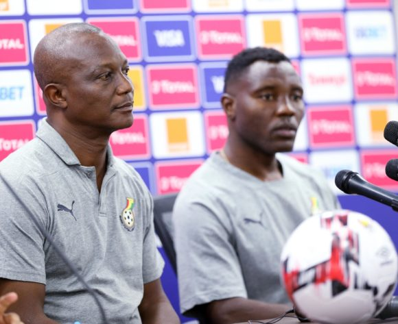 James Kwesi Appiah coach of Ghana and Kwadwo Asamoah of Ghana during the 2019 Africa Cup of Nations Ghana Press Conference at Ismailia Stadium in Ismailia, Egypt on 28 June 2019 © Guy Suffo/BackpagePix