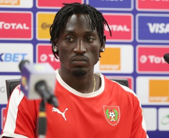 Jose Lopes Zezinho of Guinea-Bissau during the 2019 Africa Cup of Nations Guinea Bissau Press Conference at Ismailia Stadium in Ismailia, Egypt on 28 June 2019 © Guy Suffo/BackpagePix