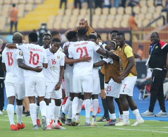 Mohamed Yattara of Guinea celebrates goal during the 2019 Africa Cup of Nations Finals football match between Burundi and Guinea at the Al Salam Stadium, Cairo, Egypt on 28 June 2019 ©Gavin Barker/BackpagePix