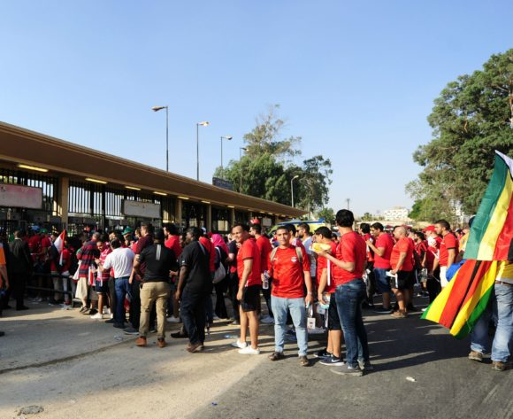 General view outside the stadium as fans being to arrive for the 2019 Africa Cup of Nations Finals opening game between Egypt and Zimbabwe