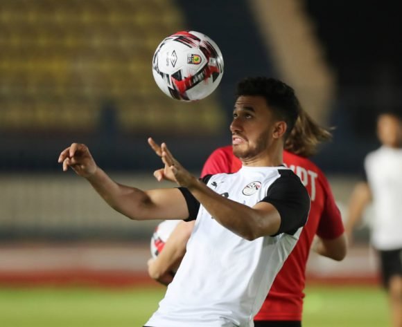 Trezeguet during the 2019 Africa Cup of Nations Finals training session for Egypt at the Military Stadium, Cairo, Egypt on 25 June 2019 ©Gavin Barker/BackpagePix