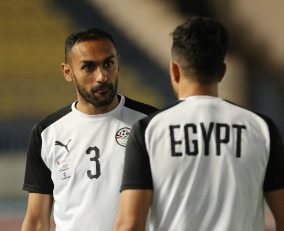 Ahmed El Mohamady (l) and Trezeguet (r) during the 2019 Africa Cup of Nations Finals training session for Egypt at the Military Stadium, Cairo, Egypt on 25 June 2019 ©Gavin Barker/BackpagePix