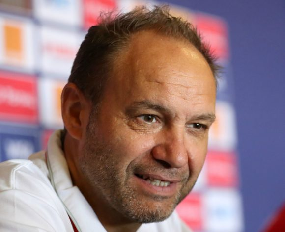 Sebastien Migne, coach of Kenya during the 2019 Africa Cup of Nations Finals Kenya press conference at 30 June Stadium, Cairo, Egypt on 26 June 2019 ©Samuel Shivambu/BackpagePix