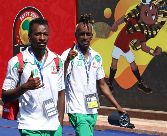 Francis Mustafa and Arthur Mac Arakaza of Burundi during the 2019 Africa Cup of Nations match between Madagascar and Burundi at the Alexandria Stadium, Alexandria on the 27 June 2019 ©Muzi Ntombela/BackpagePix