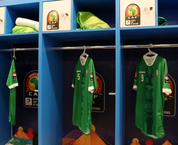 Madagascar change room during the 2019 Africa Cup of Nations match between Madagascar and Burundi at the Alexandria Stadium, Alexandria on the 27 June 2019 ©Muzi Ntombela/BackpagePix