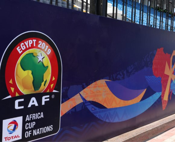 CAF branding during the 2019 Africa Cup of Nations match between Madagascar and Burundi at the Alexandria Stadium, Alexandria on the 27 June 2019 ©Muzi Ntombela/BackpagePix