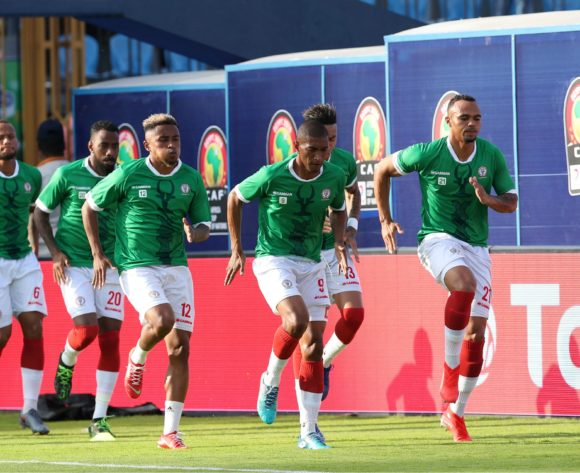 Madagascar team warming up during the 2019 Africa Cup of Nations match between Madagascar and Nigeria at the Alexandria Stadium, Alexandria on the 30 June 2019 ©Muzi Ntombela/BackpagePix