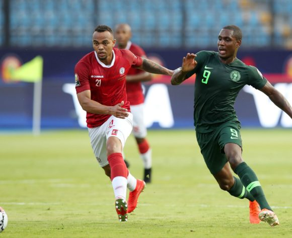 Odion Jude Ighalo of Nigeria challenged by Thomas Fontaine of Madagascar during the 2019 Africa Cup of Nations match between Madagascar and Nigeria at the Alexandria Stadium, Alexandria on the 30 June 2019 ©Muzi Ntombela/BackpagePix