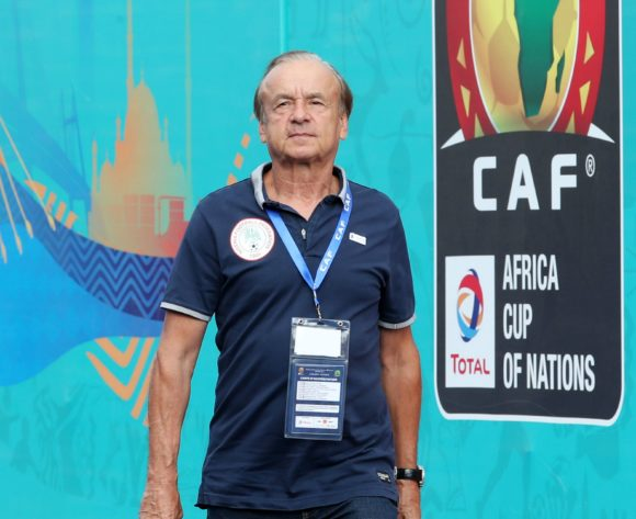 Gernot Rohr, coach of Nigeria during the 2019 Africa Cup of Nations match between Madagascar and Nigeria at the Alexandria Stadium, Alexandria on the 30 June 2019 ©Muzi Ntombela/BackpagePix
