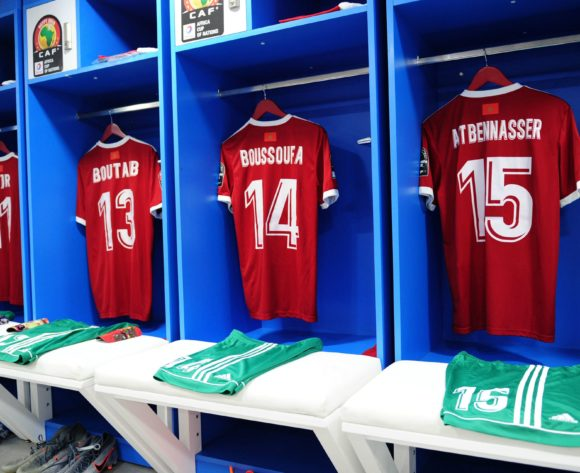 General view inside the Morocco dressing room before the 2019 Africa Cup of Nations Finals match between Morocco and Ivory Coast at Al Salam Stadium in Cairo, Egypt on 28 June 2019 © Ryan Wilkisky/BackpagePix