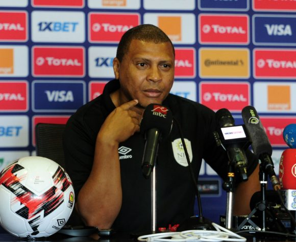 Ricardo Mannetti, head coach of Namibia chats to media during the 2019 Africa Cup of Nations Finals press conference for Namibia at 30 June Stadium in Cairo, Egypt on 30 June 2019 © Ryan Wilkisky/BackpagePix