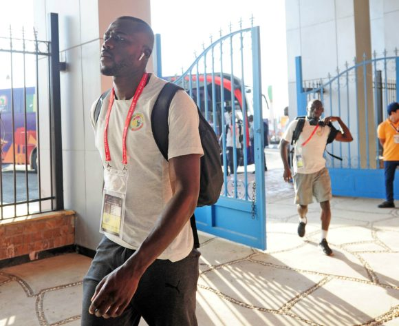 Senegal squad arrives shortly before the Africa Cup of Nations 2019 Finals game between Senegal and Tanzania at 30 June Stadium in Cairo, Egypt on 23 June 2019 © Ryan Wilkisky/BackpagePix