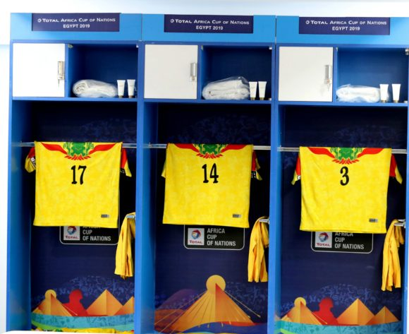 Mali change room during the 2019 Africa Cup of Nations Finals match between Tunisia and Mali at Suez Stadium, Suez, Egypt on 28 June 2019 ©Samuel Shivambu/BackpagePix
