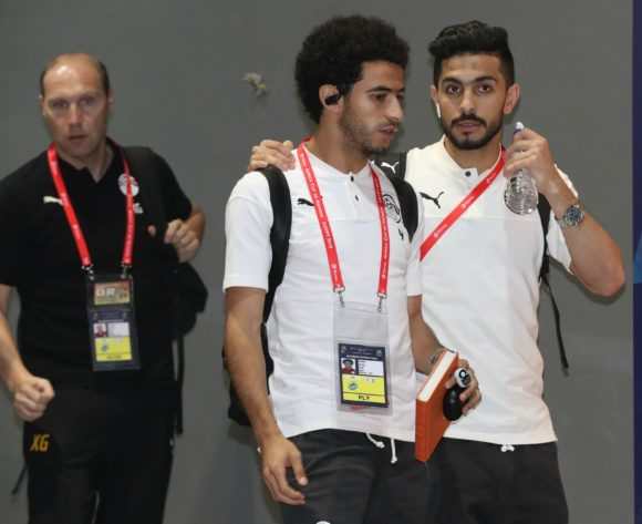 Egypt players arrivals during the 2019 Africa Cup of Nations Finals Uganda and Egypt at Cairo International Stadium, Cairo, Egypt on 30 June 2019 ©Samuel Shivambu/BackpagePix