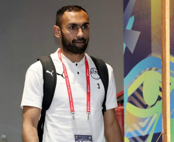 Ahmed El Mohamady of Egypt arrives during the 2019 Africa Cup of Nations Finals Uganda and Egypt at Cairo International Stadium, Cairo, Egypt on 30 June 2019 ©Samuel Shivambu/BackpagePix