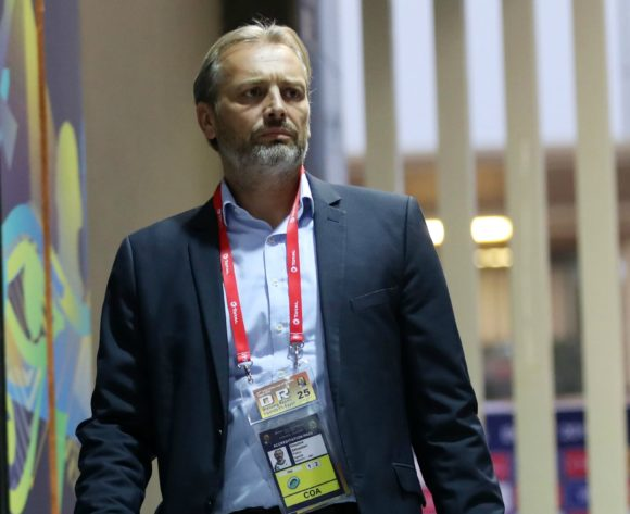 Sebastien Desabre, head coach of Uganda arrivals during the 2019 Africa Cup of Nations Finals Uganda and Egypt at Cairo International Stadium, Cairo, Egypt on 30 June 2019 ©Samuel Shivambu/BackpagePix