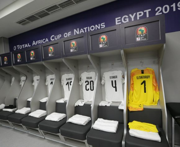 Egypt changeroom general view during the 2019 Africa Cup of Nations Finals Uganda and Egypt at Cairo International Stadium, Cairo, Egypt on 30 June 2019 ©Samuel Shivambu/BackpagePix