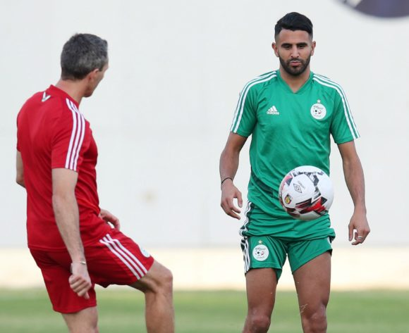 Riyad Mahrez of Algeria during the 2019 Africa Cup of Nations Semifinals Algeria Training at the Petro Sport Stadium, Cairo on the 13 July 2019 ©Muzi Ntombela/BackpagePix