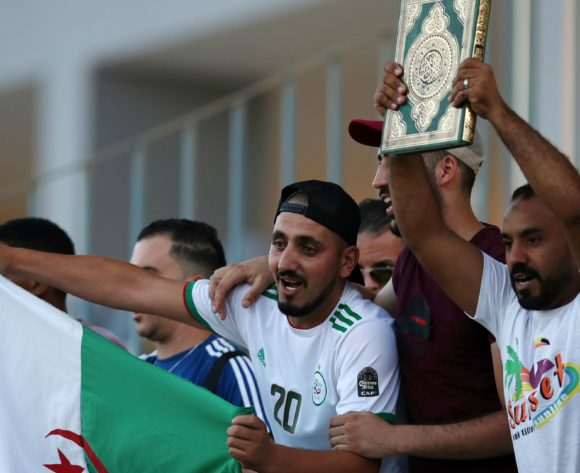 Algeria fans during the 2019 Africa Cup of Nations Semifinals Algeria Training at the Petro Sport Stadium, Cairo on the 13 July 2019 ©Muzi Ntombela/BackpagePix