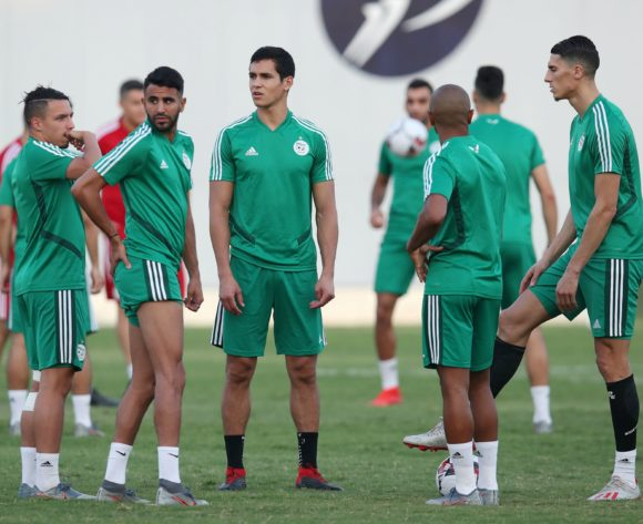 Algeria players warming up during the 2019 Africa Cup of Nations Semifinals Algeria Training at the Petro Sport Stadium, Cairo on the 13 July 2019 ©Muzi Ntombela/BackpagePix
