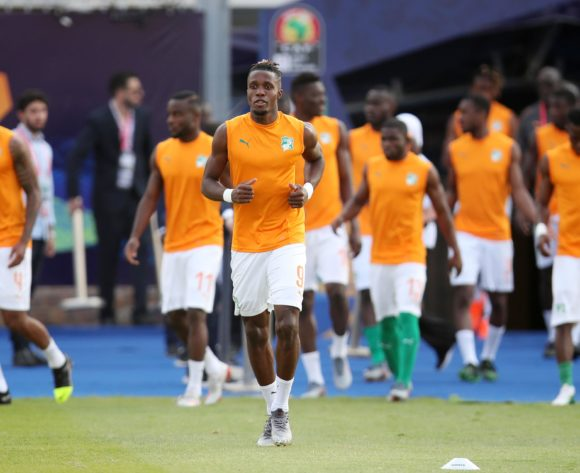 Wilfried Zaha of Ivory Coast during the 2019 Africa Cup of Nations match between Namibia and Ivory Coast at the 30 June Stadium, Cairo on the 01 July 2019 ©Muzi Ntombela/BackpagePix