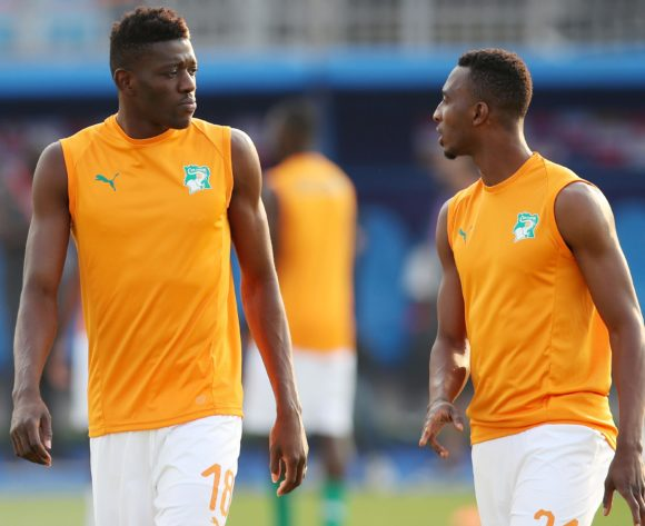 Ibrahim Sangare with Cheick Comara of Ivory Coast during the 2019 Africa Cup of Nations match between Namibia and Ivory Coast at the 30 June Stadium, Cairo on the 01 July 2019 ©Muzi Ntombela/BackpagePix