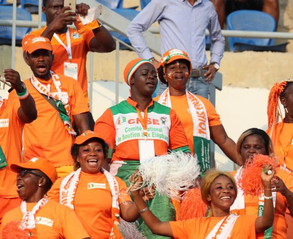 Ivory Coast fans during the 2019 Africa Cup of Nations match between Namibia and Ivory Coast at the 30 June Stadium, Cairo on the 01 July 2019 ©Muzi Ntombela/BackpagePix