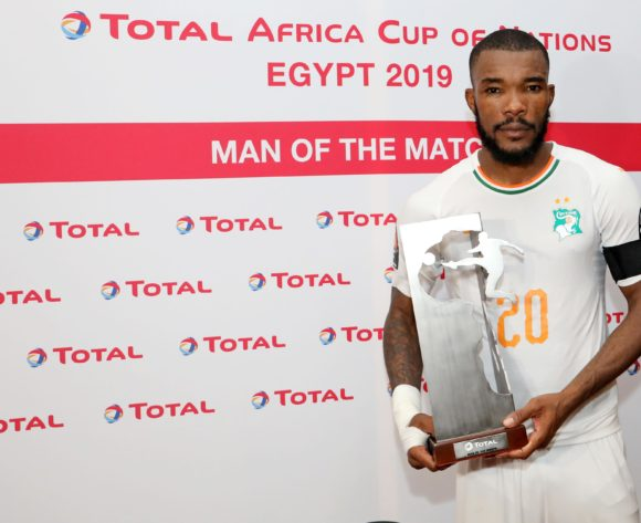 Geoffroy Die Serey of Ivory Coast wins Man of the Match Award during the 2019 Africa Cup of Nations match between Namibia and Ivory Coast at the 30 June Stadium, Cairo on the 01 July 2019 ©Muzi Ntombela/BackpagePix