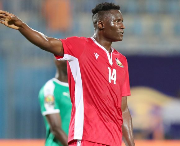 Michael Olunga of Kenya during the 2019 Africa Cup of Nations match between Kenya and Senegal at the 30 June Stadium, Cairo on the 01 July 2019 ©Muzi Ntombela/BackpagePix