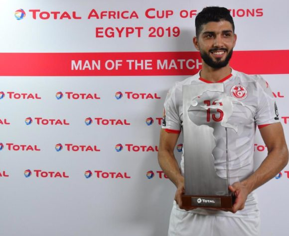 Ferjani Sassi of Tunisia man of the match during the Africa Cup of Nations 2019 Finals quarterfinal game between Madagascar and Tunisia at Al Salam Stadium in Cairo, Egypt on 11 July 2019 ©BackpagePix