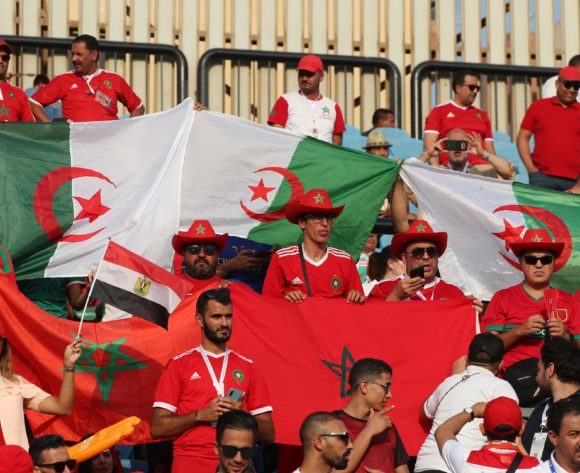 Morocco Fans  during the 2019 Africa Cup of Nations Finals football match between South Africa and Morocco at the Al Salam Stadium, Cairo, Egypt on 01 July 2019 ©Gavin Barker/BackpagePix