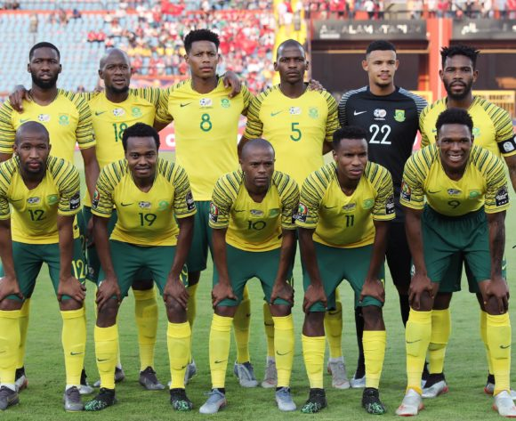 South Africa Team Picture during the 2019 Africa Cup of Nations Finals football match between South Africa and Morocco at the Al Salam Stadium, Cairo, Egypt on 01 July 2019 ©Gavin Barker/BackpagePix