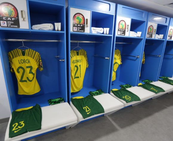 South Africa changeroom general view during the 2019 Africa Cup of Nations Finals South Africa and Morocco at Al Salam Stadium, Cairo, Egypt on 01 July 2019 ©Samuel Shivambu/BackpagePix