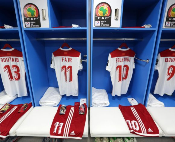 Morocco changeroom general view during the 2019 Africa Cup of Nations Finals South Africa and Morocco at Al Salam Stadium, Cairo, Egypt on 01 July 2019 ©Samuel Shivambu/BackpagePix