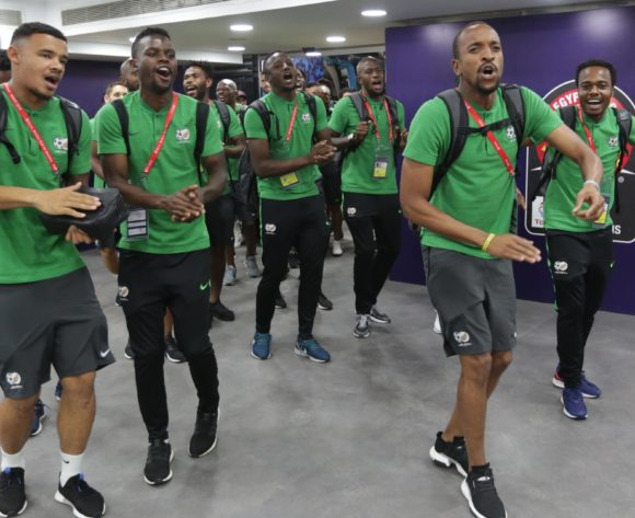 South Africa players arrivals during the 2019 Africa Cup of Nations Finals South Africa and Morocco at Al Salam Stadium, Cairo, Egypt on 01 July 2019 ©Samuel Shivambu/BackpagePix
