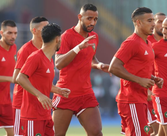 Mehdi Benatia (c) Morocco warm up during the 2019 Africa Cup of Nations Finals South Africa and Morocco at Al Salam Stadium, Cairo, Egypt on 01 July 2019 ©Samuel Shivambu/BackpagePix