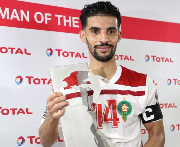 M'bark Boussoufa of Morocco wins Total man of the Match award during the 2019 Africa Cup of Nations Finals South Africa and Morocco at Al Salam Stadium, Cairo, Egypt on 01 July 2019 ©Samuel Shivambu/BackpagePix