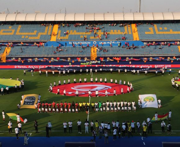 General View Stadium during the 2019 Africa Cup of Nations Finals football match between Guinea Bissau and Ghana at the Suez Stadium, Suez, Egypt on 02 July 2019 ©Gavin Barker/BackpagePix