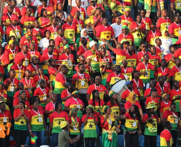 Ghana Fans during the 2019 Africa Cup of Nations Finals football match between Guinea Bissau and Ghana at the Suez Stadium, Suez, Egypt on 02 July 2019 ©Gavin Barker/BackpagePix