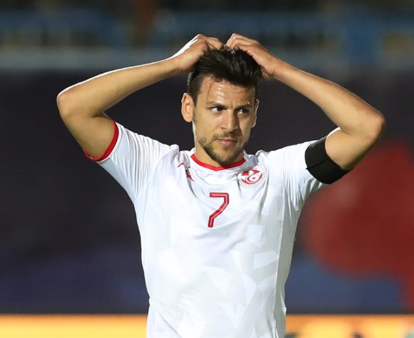 Youssef Msakni of Tunisia reacts in disappointment after missed chance  during the 2019 Africa Cup of Nations Finals football match between Mauritania and Tunisia at the Suez Stadium, Suez, Egypt on 02 July 2019 ©Gavin Barker/BackpagePix