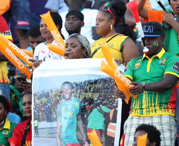 Cameroon fans during the 2019 Africa Cup of Nations match between Benin and Cameroon at the Ismailia Stadium, Ismailia on the 02 July 2019 ©Muzi Ntombela/BackpagePix