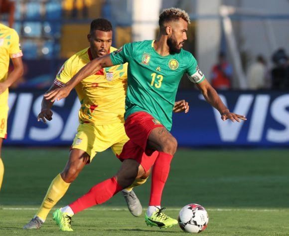 Eric Maxim Choupo-Moting of Cameroon challenged by Steve Mounie of Benin during the 2019 Africa Cup of Nations match between Benin and Cameroon at the Ismailia Stadium, Ismailia on the 02 July 2019 ©Muzi Ntombela/BackpagePix